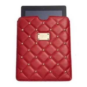 BOGO Michael Kors Red Leather Tablet Sleeve